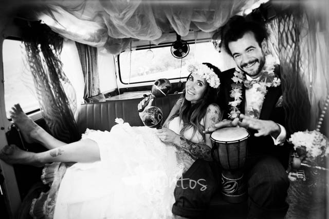 Novios hippies